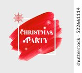 'christmas party' sign text... | Shutterstock .eps vector #522661114