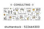 line concept for consulting.... | Shutterstock . vector #522664303