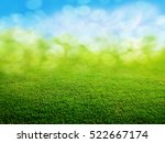 green grass background | Shutterstock . vector #522667174