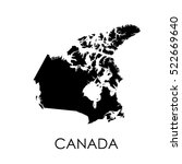 canada map on white background | Shutterstock .eps vector #522669640