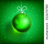 green christmas ball on green... | Shutterstock .eps vector #522670783