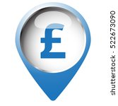 map pin symbol with pound icon. ... | Shutterstock . vector #522673090