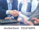 business people meeting... | Shutterstock . vector #522676894