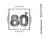 eighty anniversary celebration... | Shutterstock .eps vector #522677239