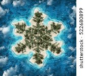 island motive snowflakes  | Shutterstock . vector #522680899