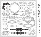 ornate swirl victorian set is... | Shutterstock .eps vector #522681058