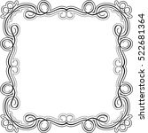luxury swirl frame is on white | Shutterstock .eps vector #522681364