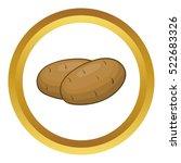 potatoes vector icon in golden... | Shutterstock .eps vector #522683326