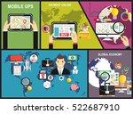 flat design vector illustration ... | Shutterstock .eps vector #522687910