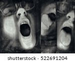 abstract portrait. soft focus ... | Shutterstock . vector #522691204
