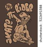 skate rider t shirt graphics... | Shutterstock .eps vector #522691588