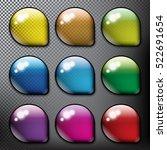abstract vector web buttons set ...   Shutterstock .eps vector #522691654