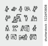 engineer vector icons | Shutterstock .eps vector #522693808