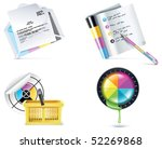 vector print shop icon set....