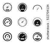 car speedometer icons set.... | Shutterstock .eps vector #522704134
