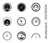types of speedometers icons set.... | Shutterstock .eps vector #522704254