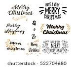 merry christmas lettering... | Shutterstock .eps vector #522704680