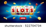 slots 3d element isolated on... | Shutterstock .eps vector #522704734