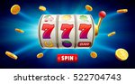 777 slots 3d element isolated... | Shutterstock .eps vector #522704743