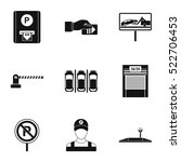 valet parking icons set. simple ...   Shutterstock .eps vector #522706453