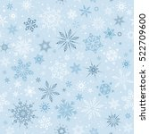 winter seamless pattern with... | Shutterstock .eps vector #522709600