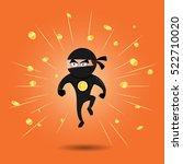 vector illustration of a ninja... | Shutterstock .eps vector #522710020