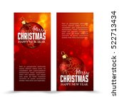 christmas web banners set with... | Shutterstock .eps vector #522713434