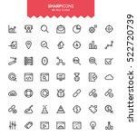 minimalistic thin line seo... | Shutterstock .eps vector #522720739