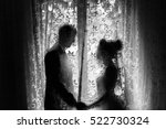 black and white photo of... | Shutterstock . vector #522730324