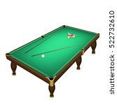 billiard game balls start... | Shutterstock .eps vector #522732610