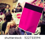 busy street protest march with... | Shutterstock . vector #522733594