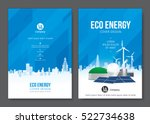 eco energy cover design. vector ... | Shutterstock .eps vector #522734638