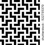 black and white mosaic style... | Shutterstock .eps vector #522735370