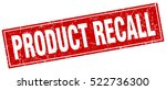 product recall. stamp. square... | Shutterstock .eps vector #522736300