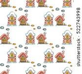 fairy houses isolated on white... | Shutterstock .eps vector #522743998