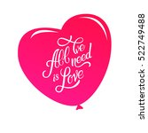 calligraphic lettering all we... | Shutterstock .eps vector #522749488
