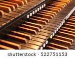 Pipe Organ Keyboards Closeup...