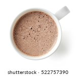 cocoa drink in white mug... | Shutterstock . vector #522757390