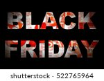 black friday. inscription in... | Shutterstock . vector #522765964