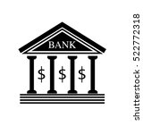 bank icon vector.