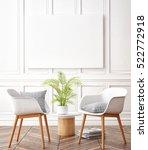mock up poster with vintage... | Shutterstock . vector #522772918