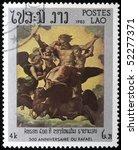 laos   circa 1983  a stamp... | Shutterstock . vector #52277371