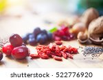 superfood  spoons of various... | Shutterstock . vector #522776920