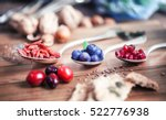 superfood  spoons of various... | Shutterstock . vector #522776938