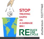 reduce reuse recycle vector eco ... | Shutterstock .eps vector #522777460