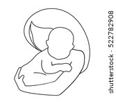 mother and baby icon in outline ... | Shutterstock . vector #522782908