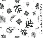 winter pattern christmas... | Shutterstock .eps vector #522783919