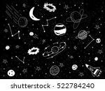 drawing universe with black... | Shutterstock .eps vector #522784240
