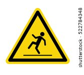 warning wet floor sign   vector ... | Shutterstock .eps vector #522784348