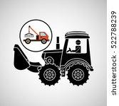construction truck concept car... | Shutterstock .eps vector #522788239